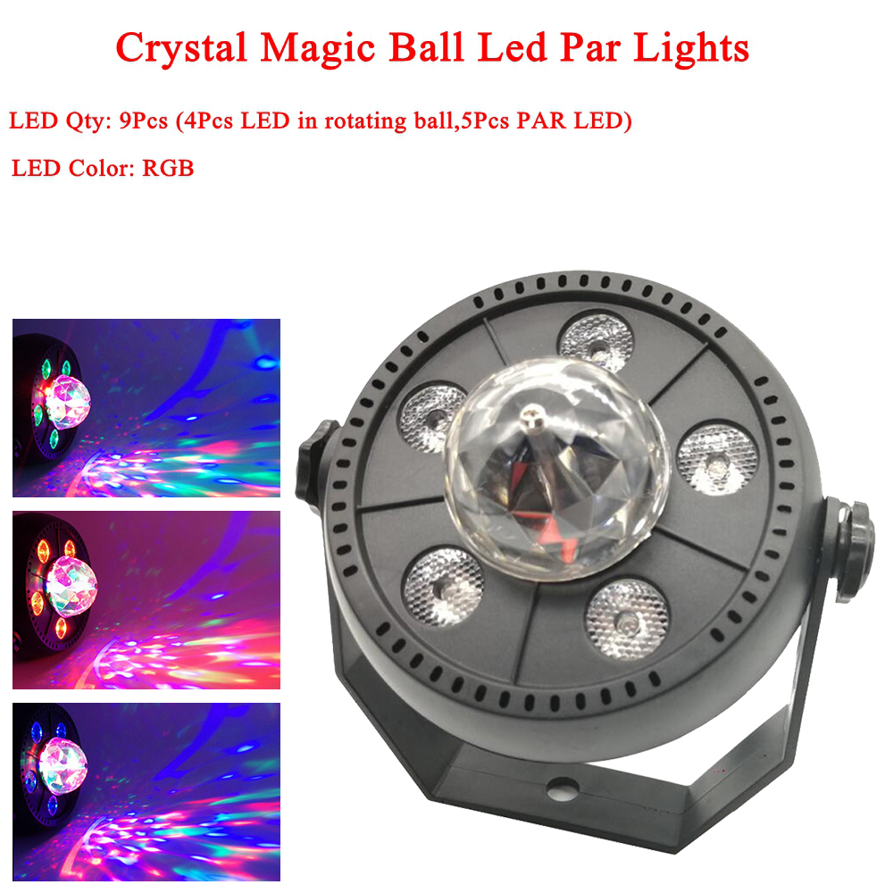 11W RGB LED Crystal Magic Ball Led Stage Lamp DJ KTV Disco Laser Light Party Lights Sound IR Remote Control Christmas Projector