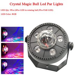 11W RGB LED kryształ Magic Ball lampa sceniczna LED DJ KTV światło laserowe disco oświetlenie imprezowe dźwięku pilot zdalnego sterowania na podczerwień bożonarodzeniowy projektor w Oświetlenie sceniczne od Lampy i oświetlenie na