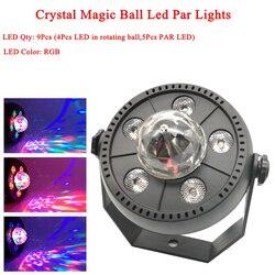 11W RGB LEVOU Bola de Cristal Mágica Levou Lâmpada Palco DJ KTV Disco Laser de luz Luzes do Partido Luz Som Controle Remoto IR controle Do Projetor de Natal
