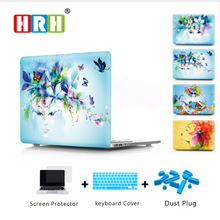 Flower Pattern Design Laptop Body Shell Protective Hard Case for Macbook New Pro 13 Retina 15 w/without Touch Bar Release2016