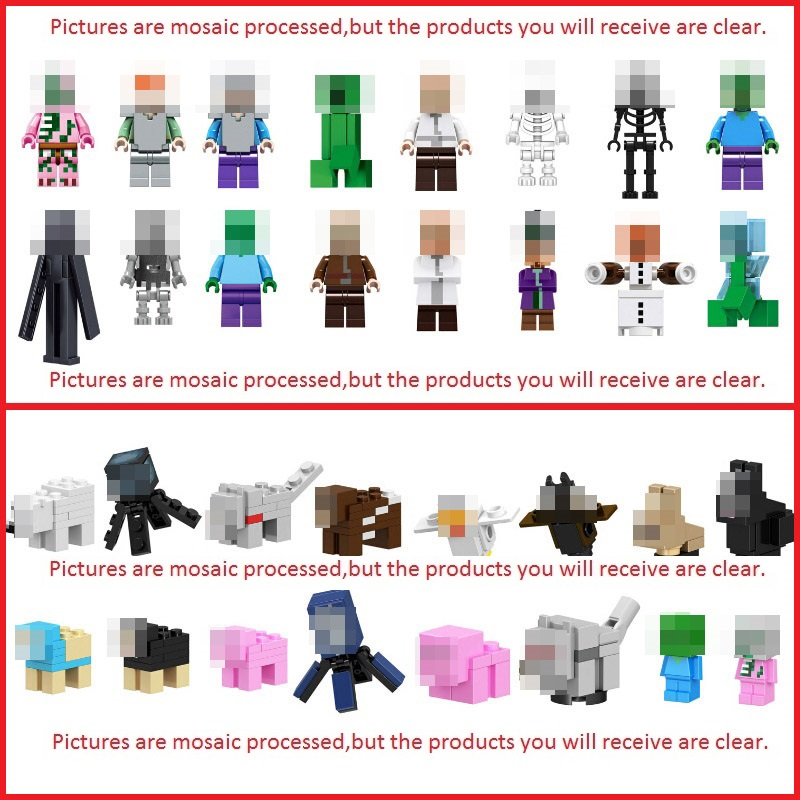 Legoing Minecrafted Figures Blocks Toys My World Zombie Steve Building Block Compatible Minecraft Legoings Weapon Kid Toy Gift