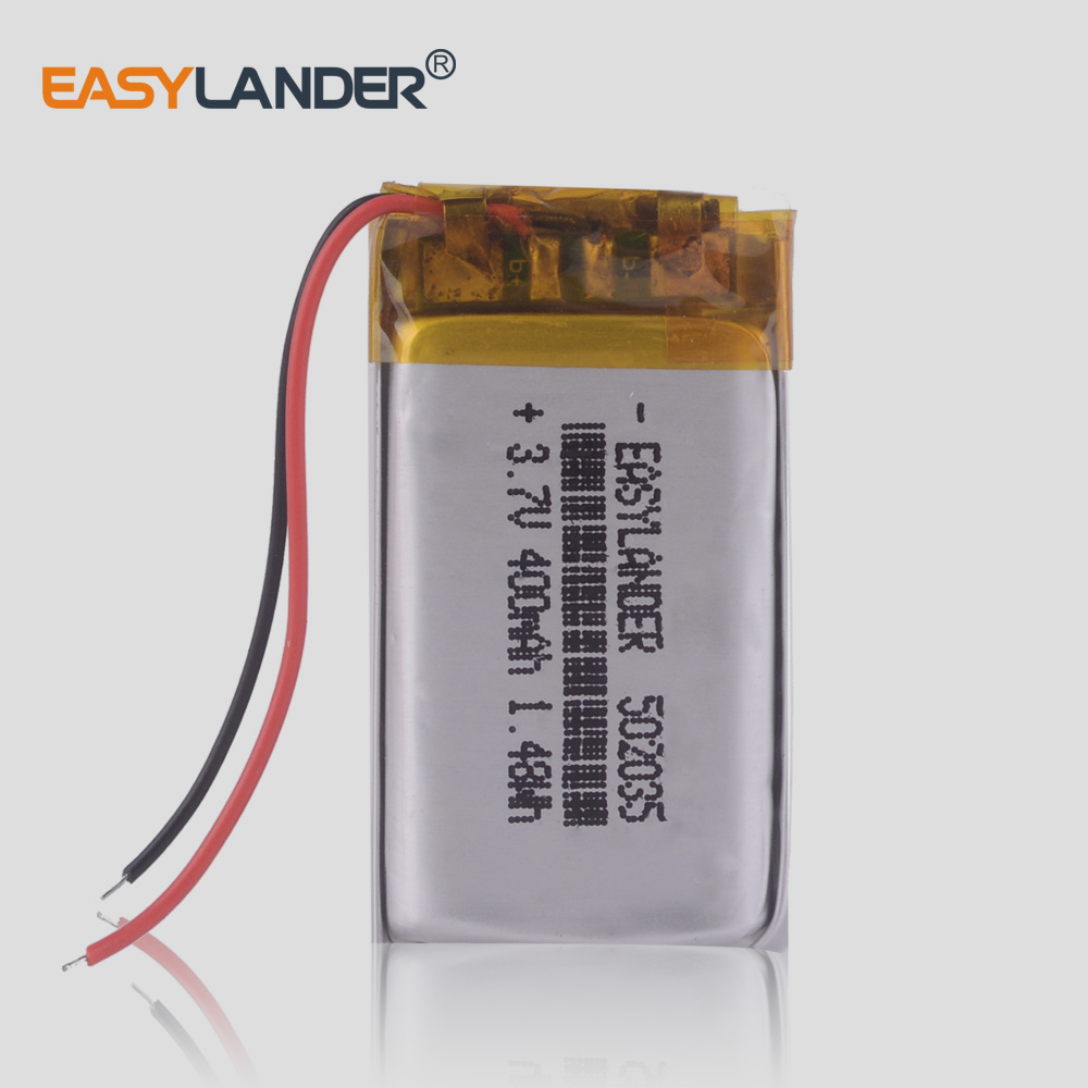 Li Polymer lithium <font><b>battery</b></font> 502035 <font><b>3.7V</b></font> 052035 <font><b>400mAh</b></font> MP3 MP4 MP5 <font><b>batteries</b></font> bluetooth headset image