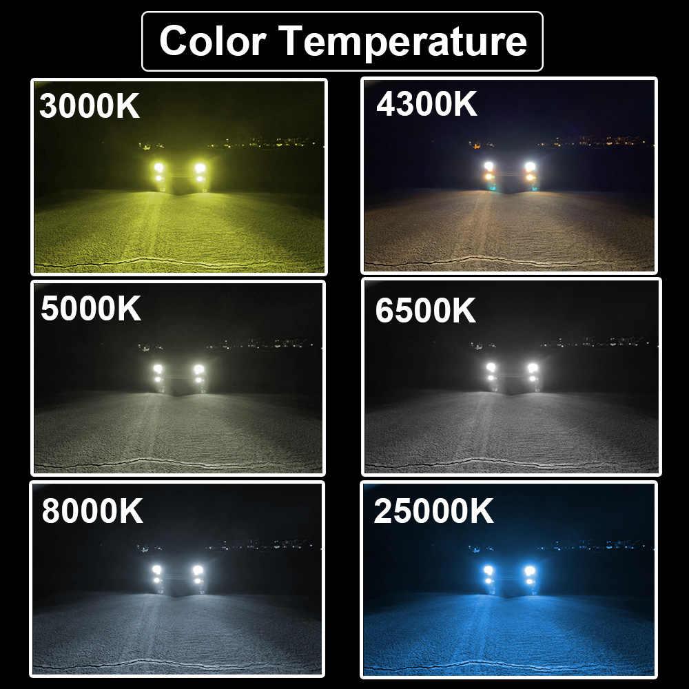 YHKOMS Mini Size Car Headlight H4 H7 LED 3000K 4300K 5000K 6500K 8000K 25000K H1 H8 H9 H11 9005 9006 LED Bulb Auto Fog Light 12V