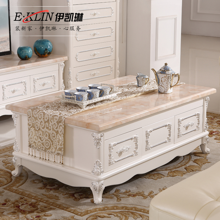 Teaside European High Grade Solid Wood Carved Depiction Of French Marble Coffee Table Ivory Silver Tea Sets B12 End In Tables From Furniture On