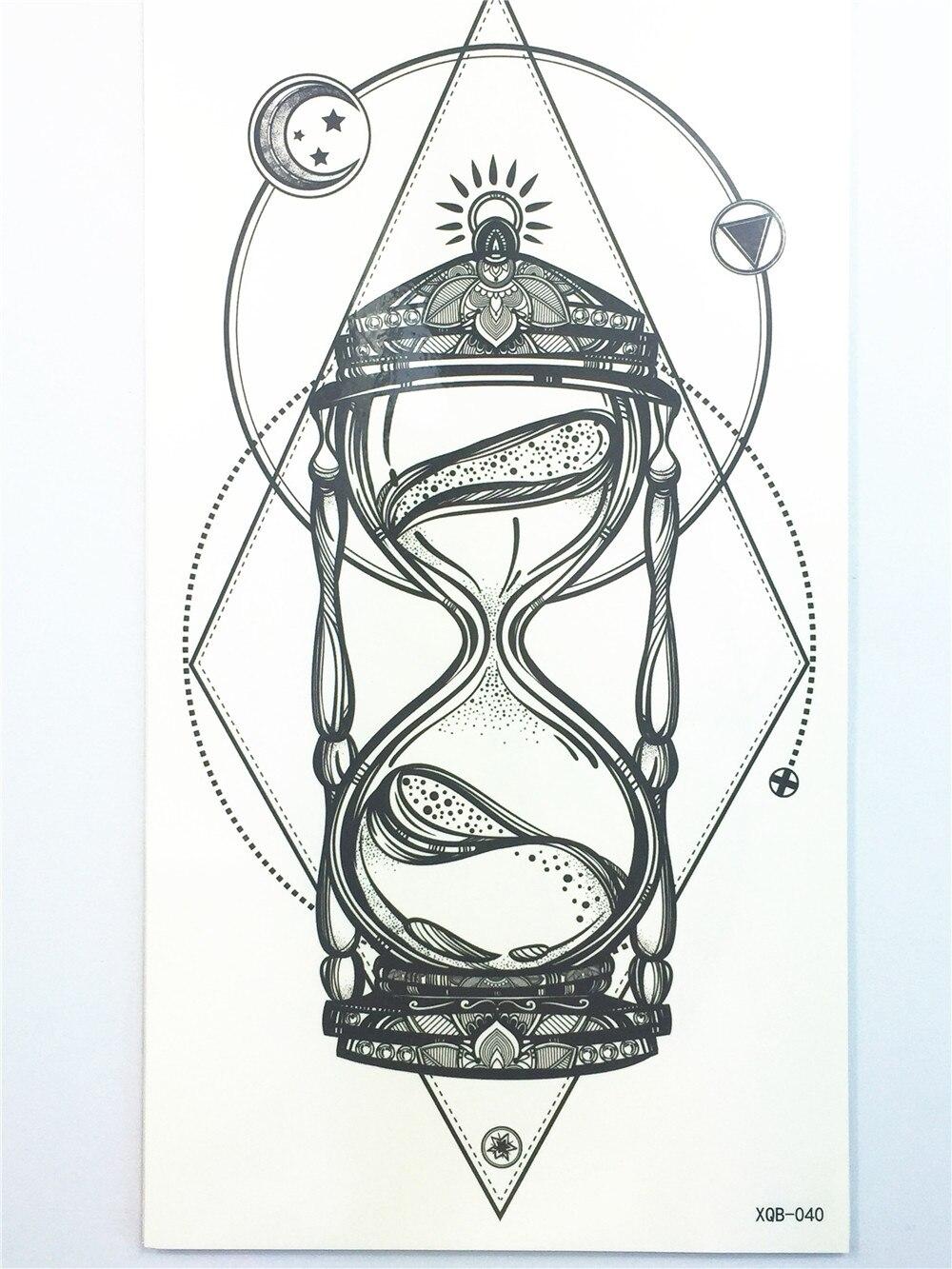 Красивые сексуальные tatuagem татуировки Средства ухода за кожей Книги по искусству песочные часы татуировки Наклейки 21*11 см Водонепроницаемы... ...