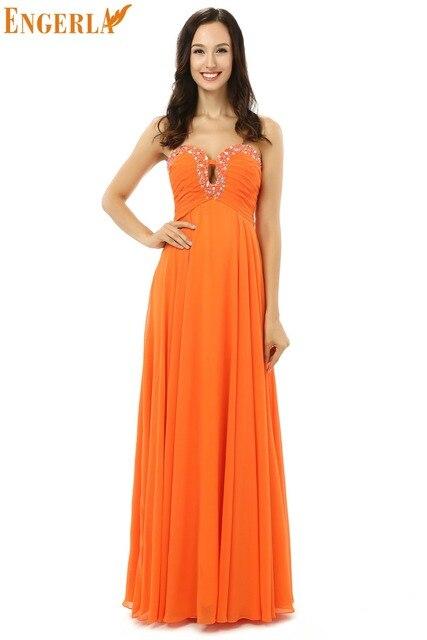 b24b4bf9f Vestido de fiesta colores y de tamaños personalizados naranja elegante dama  de honor vestidos fiesta largo