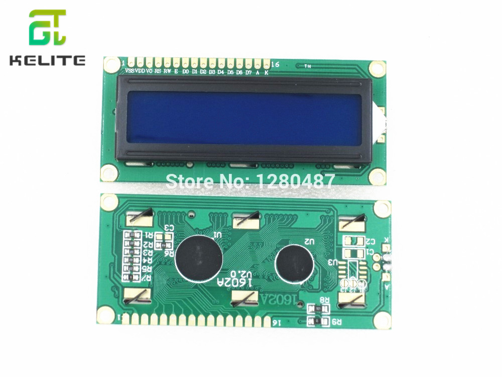 10 Pcs/lot 1602 LCD Screen (blue Screen) 51 Supporting Learning Board LCD Screens With Backlighting