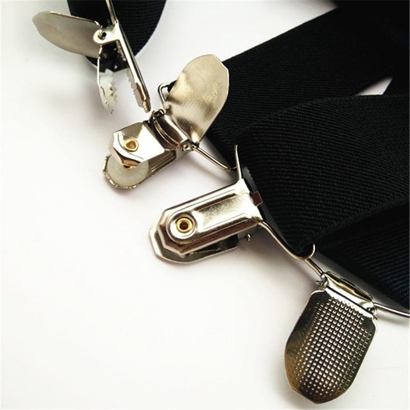 Suspenders Men Trousers Braces Adjustable Elastic 4-Clips Adult X-Back Women Wide XXL