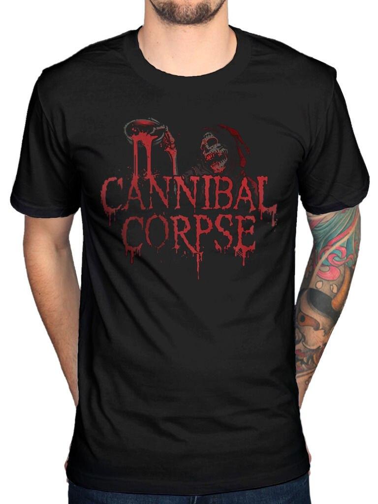 Print Men T Shirt Summer Official Cannibal Corpse Acid Blood T-Shirt Skeletal Domain Bloodthirst Torture