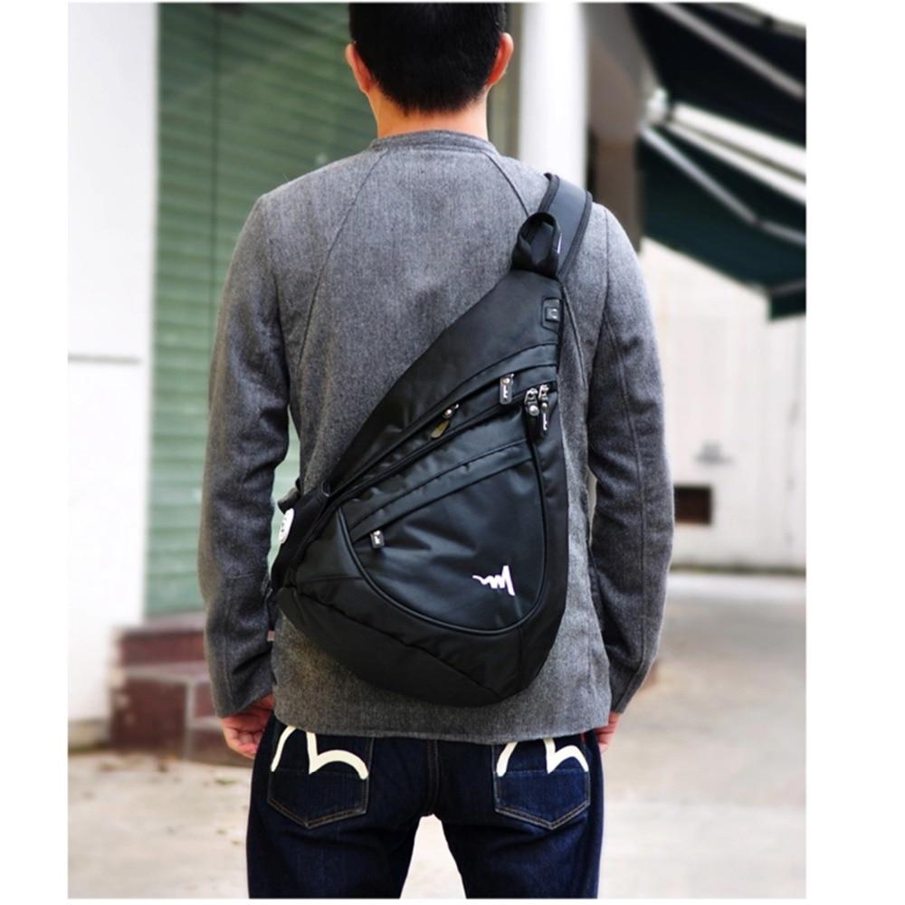 Aliexpress.com : Buy Black Mens Backpack Chest Shoulder Bag ...