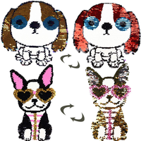 10pcs/lot Bead Sequin Patch Embroidered Patches Fashion Dog Clothing Accessories Diy Patch Cute Applique Decoration