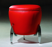 Free Shipping Living Room Synthetic Leather Footstool