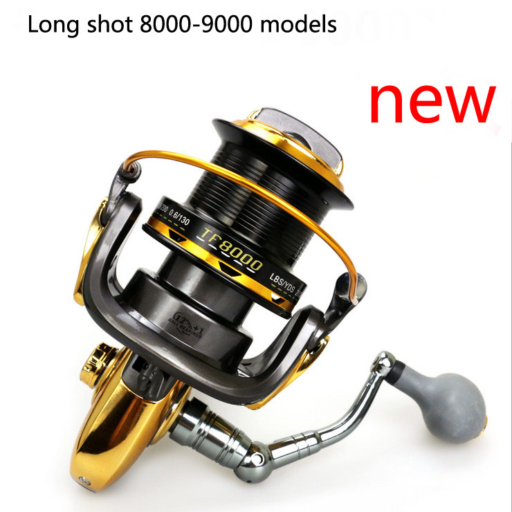 ФОТО new TF8000 9000 13 axis Fishing vessels All metal CNC rocker arm High strength plastic spinning reels