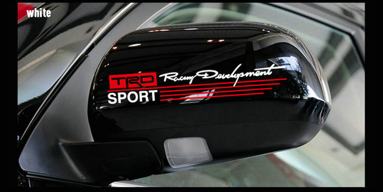 Pieceslot Car Rearview Mirror Sticker TRD Signature Car Decal - Honda decal stickers for cars