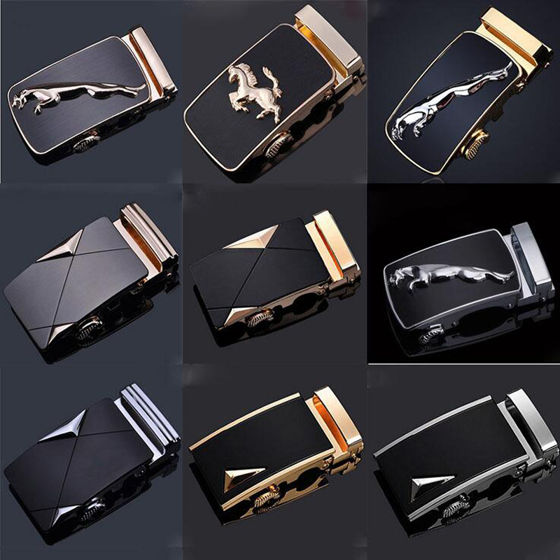 Men's Belts Many Style Luxury Brand Designer Men Belt Buckle Male Kemer Metal Automatic Buckle Heads High Quality Gold Horses Buckles Goods Of Every Description Are Available