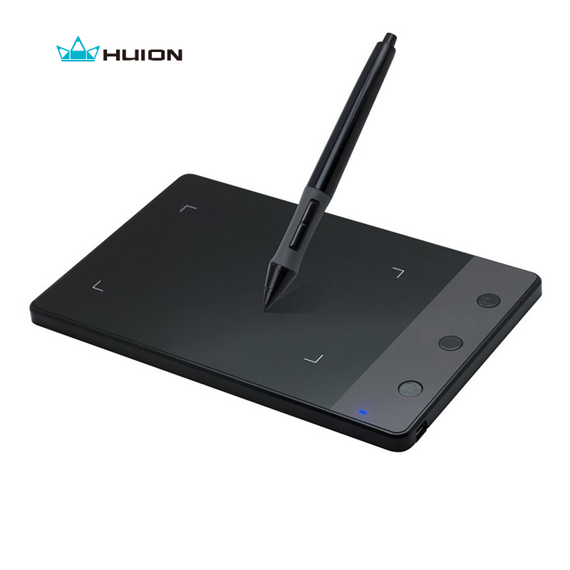 Huion H420 4 x 2,23 tum Grafisk ritningstablett Digital Pen Tablet 2048 Pen Sensitivitet Signatur Pad (Perfekt för osu)