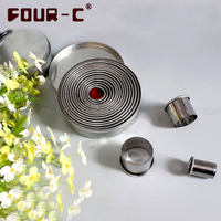 FOUR C COOKIE CUTTERS SET FREE SHIPPING Stainless Steel Cookie Cutter Metal Cutters Set Biscuits Cutters