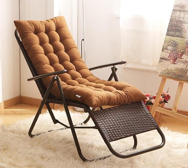 Summer Recliner Rocking Chair Mat Thick Rattan Chair