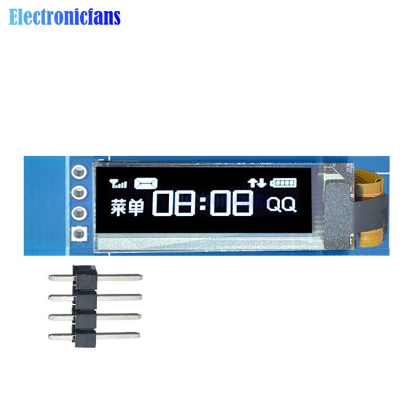 0.91 Inch 128x32 128 32 I2C IIC Interface Serial White OLED LCD Display Module 0.91