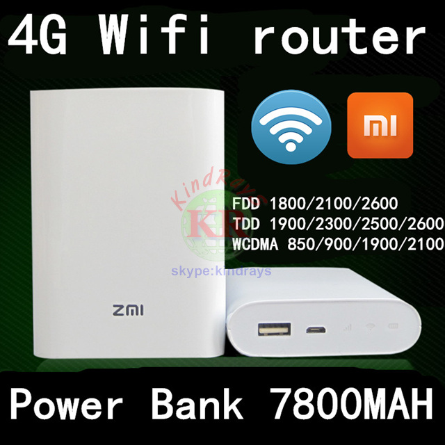 ФОТО unlocked Xiaomi Zmi MF855 4g wifi router with power bank 7800MAH mifi 3G 4G Wireless Router Mobile dongle pk e5776 e5577 e5372