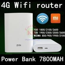 unlocked Xiaomi Zmi MF855 4g wifi router with power bank 7800MAH mifi 3G 4G Wireless Router