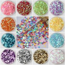 3mm 4mm 5mm 6mm Flat Round PVC Loose Sequins Paillette Sewing Craft for Wedding Decoration Garment Dress Shoe Caps DIY Accessory(China)