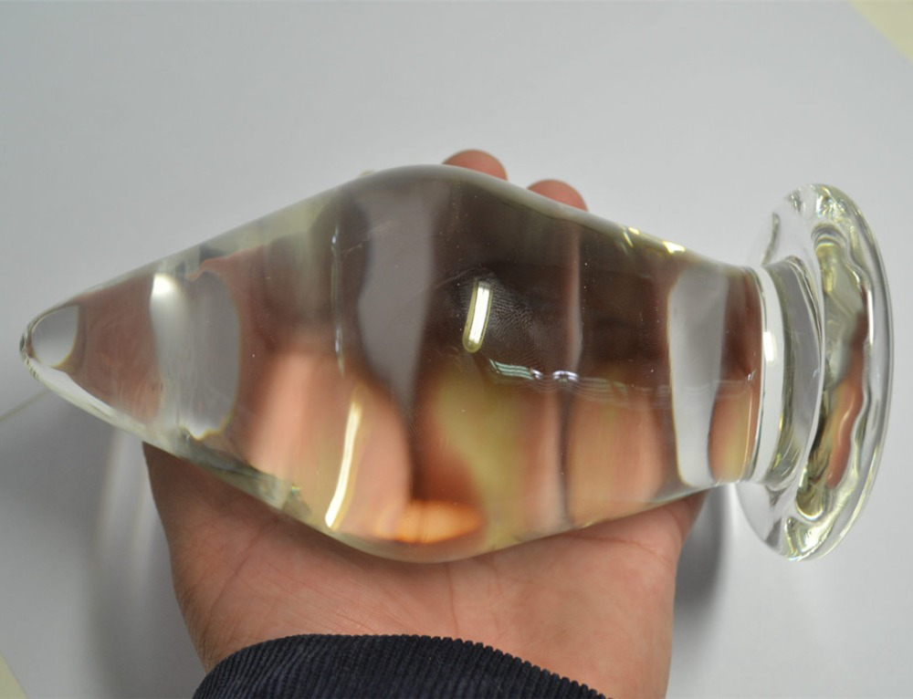 Unisex Super Big Glass Anal Plug Male Prostate Massager Gay Sex Toys Adult Products Sex ShopUnisex Super Big Glass Anal Plug Male Prostate Massager Gay Sex Toys Adult Products Sex Shop