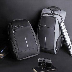 """Image 2 - Erkekler TSA Anti hırsızlık sırt çantası büyük kapasiteli 17.3 inç USB sırt çantası erkek kadın 15.6 """"Laptop sırt çantaları Schoolbag gençler için"""