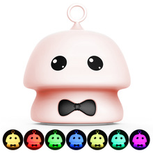 Premium 7 Colors Mushroom LED USB Children Animal Night Light Silicone Soft Cartoon Baby Nursery Lamp Breathing