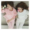 2016 New Spring Nightgown Quarter Sleeve Lace Bow Lovely Nightdress Fashionable And White And Pink Princess Sleepwear