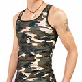 Famous brand camouflage singlet  men vest factory on line sale directly free customize logo M02-1