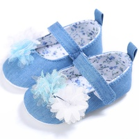 Fashion Newborn Shoes Girl Baby Cotton Fabric First Walker Toddler Shoes Kids Floral Princess Shoe