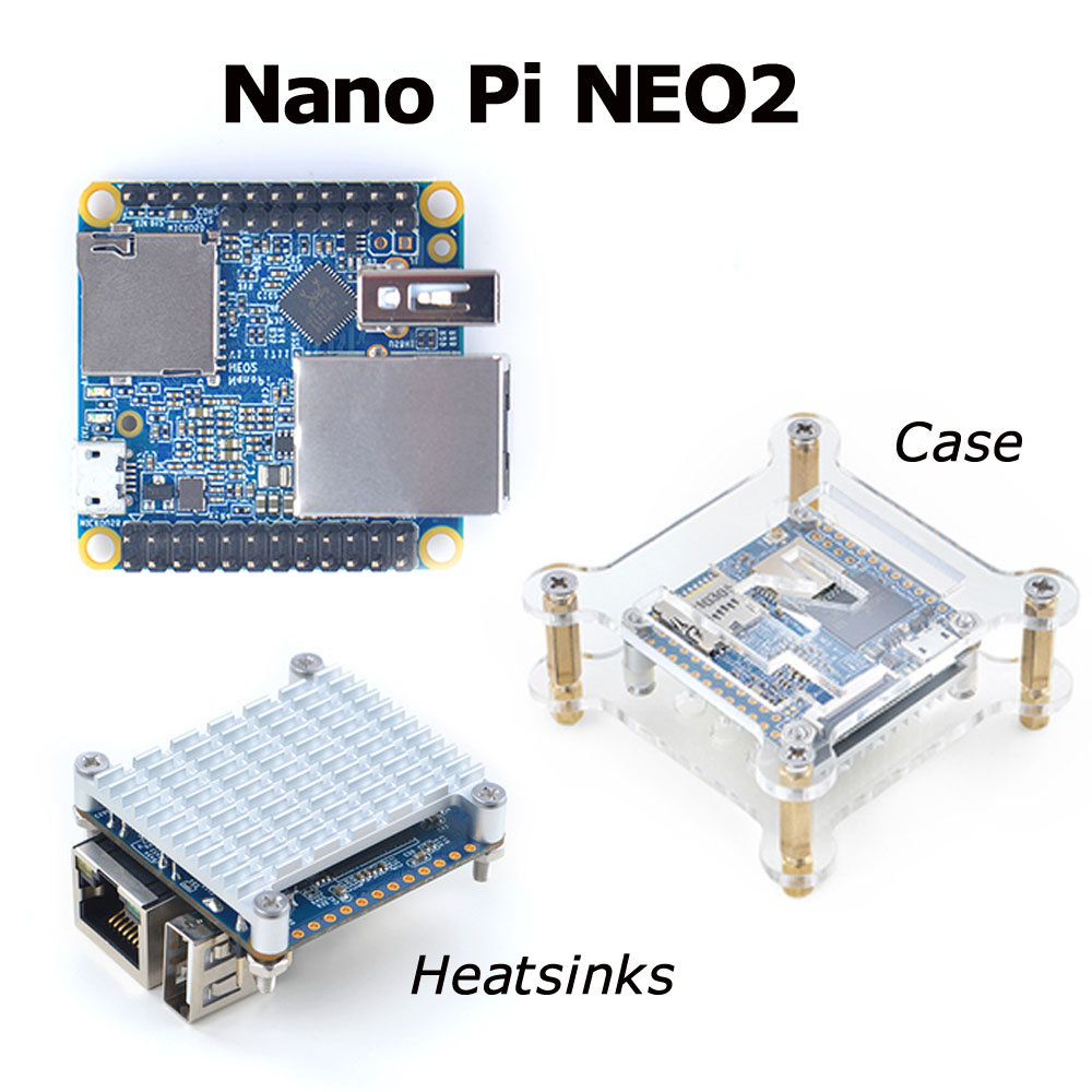NanoPi NEO2 LTS Development Board Faster Than Raspberry PI 40X40mm (512MB/1GB DDR3 RAM) ARM Cortex-A53 Allwinner H5