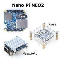NanoPi NEO2 LTS Development Board faster than Raspberry PI 40X40mm (512MB/1GB DDR3 RAM) ARM Cortex A53 Allwinner H5