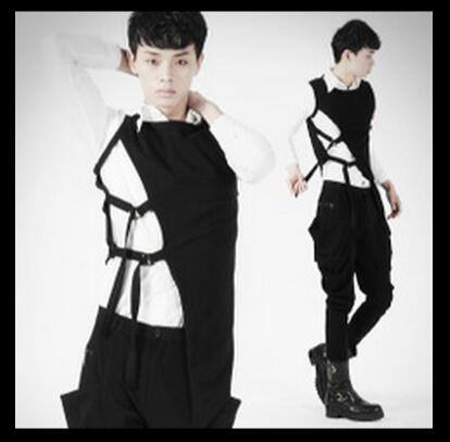 ГОРЯЧАЯ 2016 весной новой Корейской свободные рукавов жилет рубашка личность майка прилив этап певица костюмы плюс размер одежды