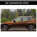 free shipping 304 stainless steel car window trim decoration for bmw x1 e84 2009 2010 2011 2012 2013 2014 2015