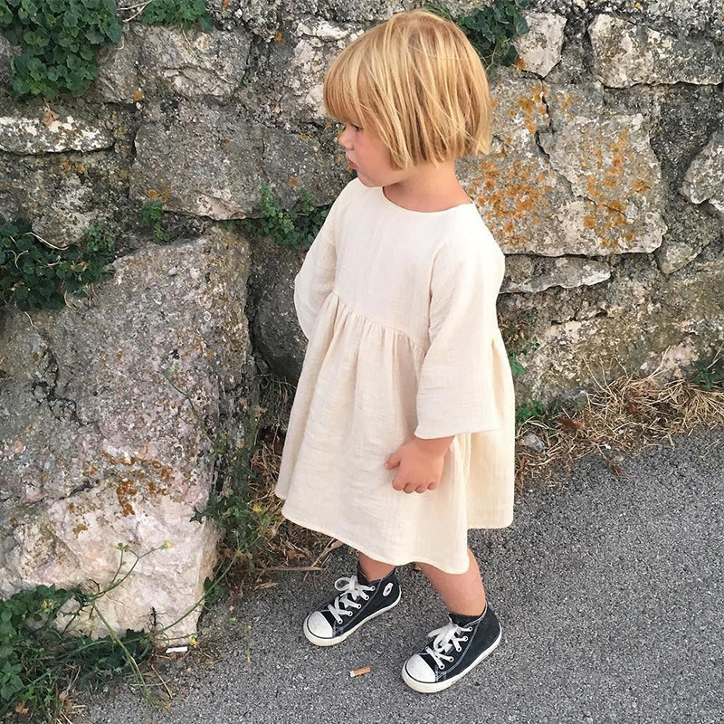 2de87d3dd43 Ins Hot Girl Blouse Cotton Linen Toddler Toddler Baby Kids Dress Korean  Clothings-in Blouses   Shirts from Mother   Kids on Aliexpress.com