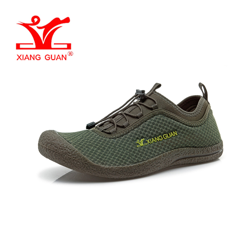 цена на Man Wading Upstream Shoes Men Summer Fishing Lycra Mesh Beach Aqua Sandals Water Sport Boating Footwear Outdoor Walking Sneakers