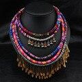 Большой коренастый заявление ожерелья 2016 ожерелье etnicos чешские ожерелья шнур для племенных ожерелье цыган indiens колье ожерелье