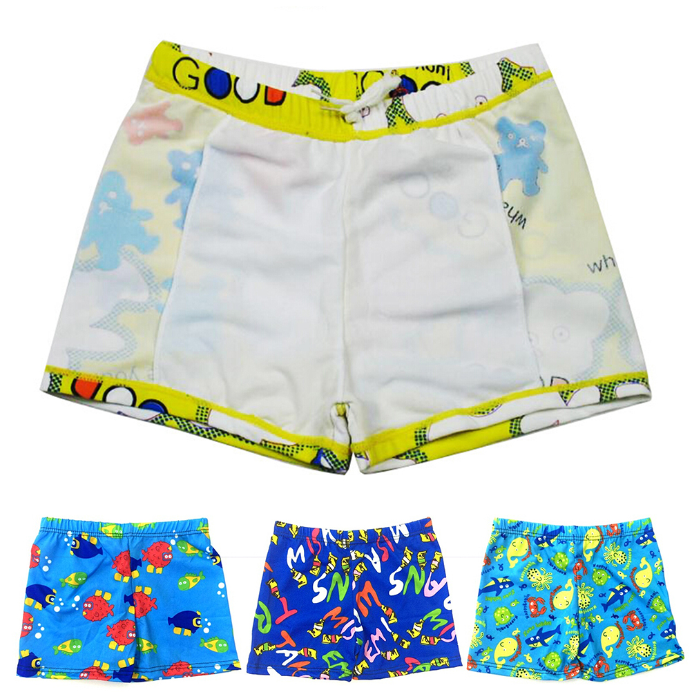 Age 5-7 Boys Patterned Swim Trunks Quick Dry Beach Board Shorts