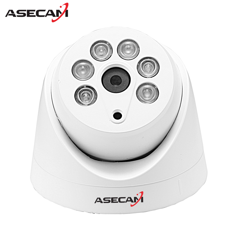 HD 720P IP Camera Onvif Black Indoor Dome WebCam CCTV Array Infrared Night Vision Security Network Smart home 1MP Surveillance owlcat 1080p full hd 2mp surveillance network indoor dome cctv camera onvif security ip camera 3x zoomed auto focus lens 2 8 8mm