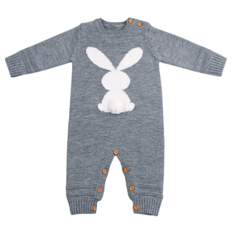 HTB1R6c2XhrvK1RjSszeq6yObFXaF Baby Rompers Set Newborn Rabbit Baby Jumpsuit Overall Long Sleevele Baby Boys Clothes Autumn Knitted Girls Baby Casual Clothes