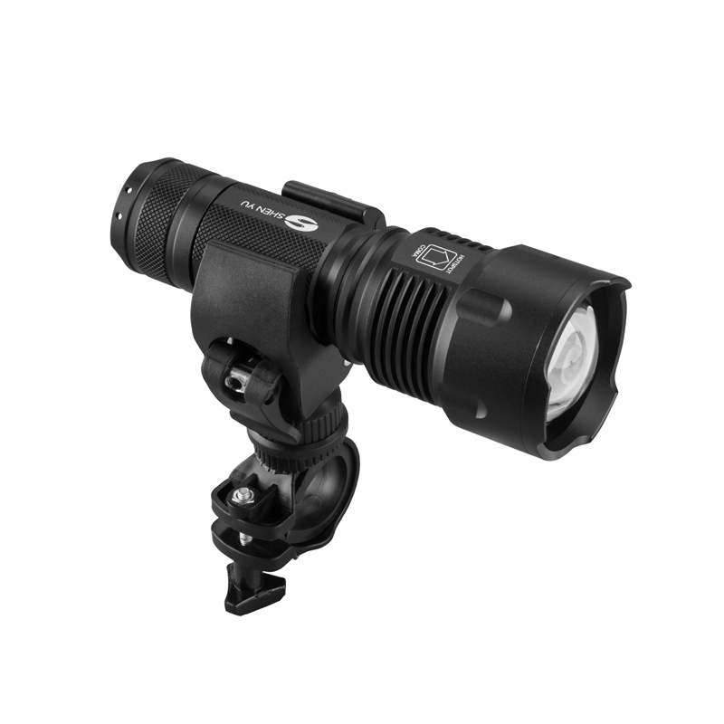 SHENYU LED Flashlight 26650 Zoom Torch Waterproof T6 2000LM 3 Mode Light For 3x AA or 3.7v Battery for Riding with bike holder удлинитель zoom ecm 3