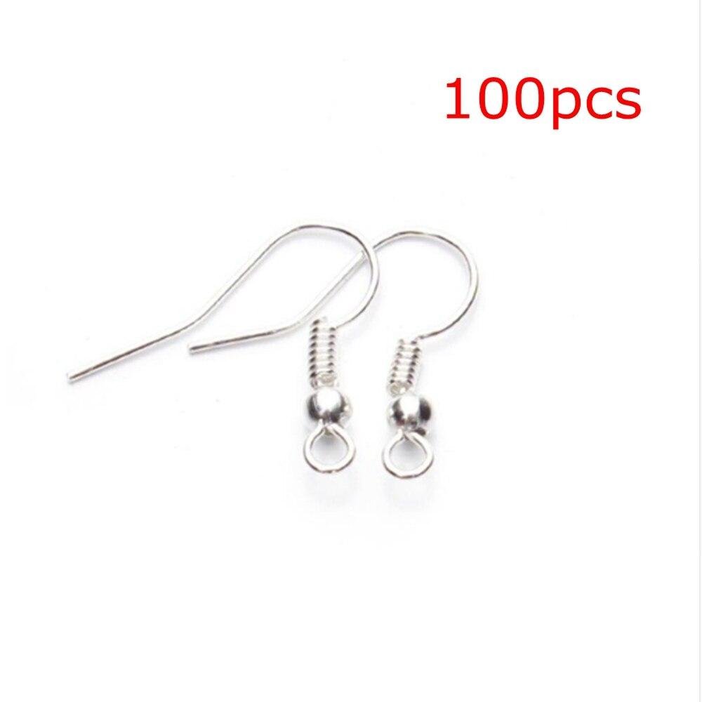 100pcs DIY Earring Findings Earrings Clasps Hooks Fittings DIY Jewelry Making