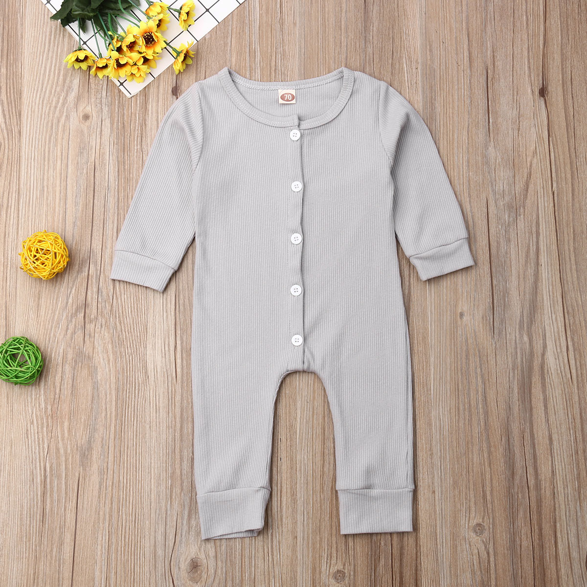 Sleepy Time Button Down Romper