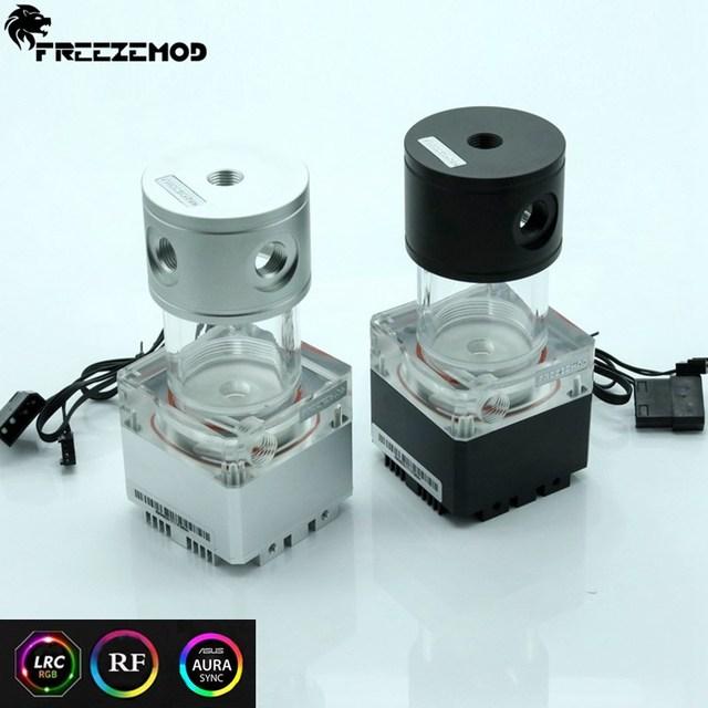 FREEZEMOD 140mm pump & reservoir kit Aluminum cover RGB control or AURA synchronization,PUB FS6MA 14