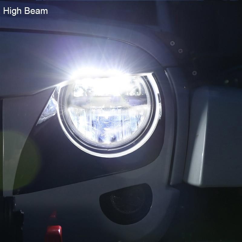 FADUIES 1 Pair 7 Inch Hitam Putaran 36 W LED Lampu dengan Tinggi - Lampu mobil - Foto 5