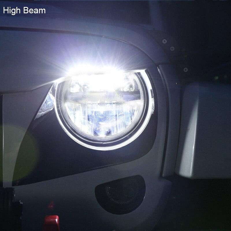 FADUIES 1 ζεύγος 7 ιντσών μαύρο στρογγυλό - Φώτα αυτοκινήτων - Φωτογραφία 5