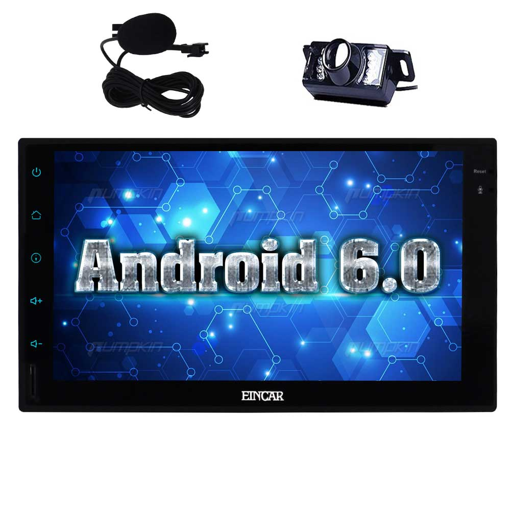 7 pouces Android 6.0 voiture stéréo 2 Din dans le tableau de bord GPS Navigation Radio BT unité de tête WiFi téléphone miroir + micro externe + caméra de sauvegarde
