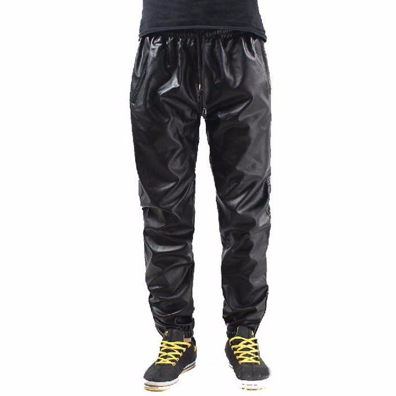 Cool-Hip-Hop-Leather-Sweatpants-Men-Black-RED-Leather-Pants-Sweat-Pants-Trackpants-Big-Size-28 (1)